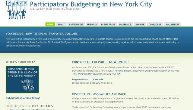 Participatory Budgeting in New York City